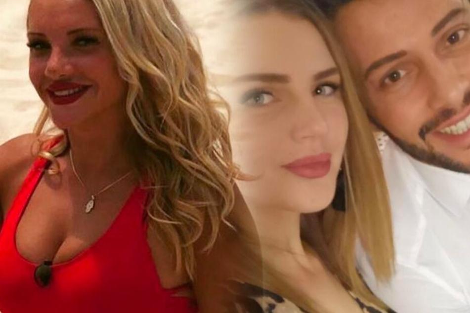 Fotomontage: Domenicos Freundin Julia (Mi.) ist nicht gerade gut auf das Thema Evelyn zu sprechen.