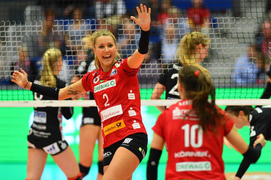 Mareen von Römer (Nummer 2) und Lena Stigrot dürfen sich über ein leichteres Los als vergangene Saison freuen.