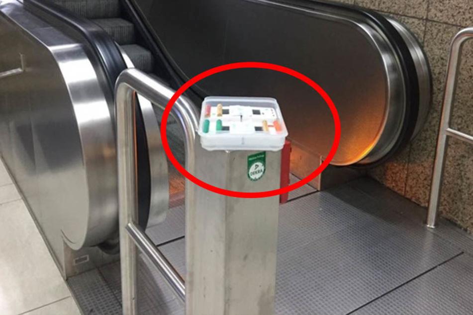Diese Box sorgte für großen Aufruhr am Hauptbahnhof