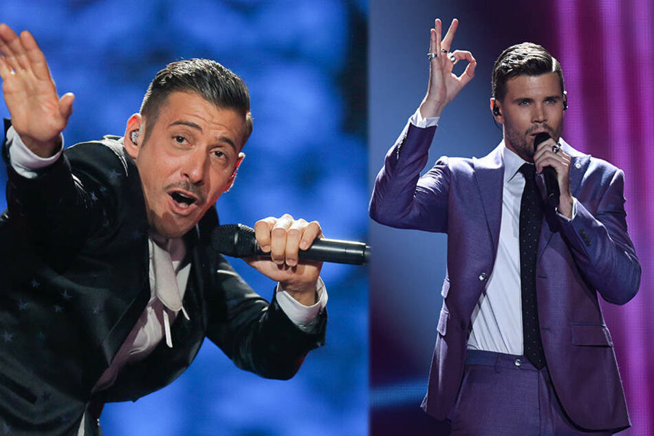 Francesco Gabbani (l.) aus Italien und Robin Bengtsson aus Schweden sind die großen Favoriten beim diesjährigen Eurovision Song Contest.