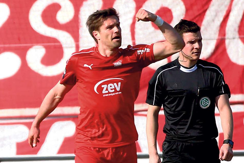 Seit Wochen in bestechender Form: Torjäger Ronny König. Ihn wollten die  Chemnitzer im Sommer nicht mehr haben. In Zwickau beweist der Stürmer, dass er  kein Auslaufmodell ist.