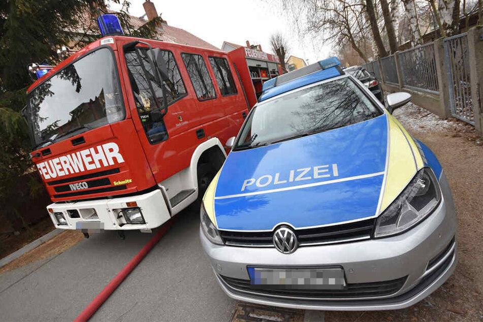 Feuerwehr, Polizei und Rettungsdienst waren vor Ort.
