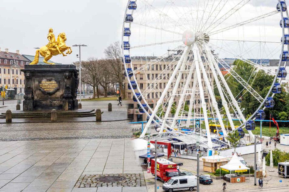 Dresden: Zum Dresdner Stadtfest: Kommt das Riesenrad auf den Neustädter Markt?