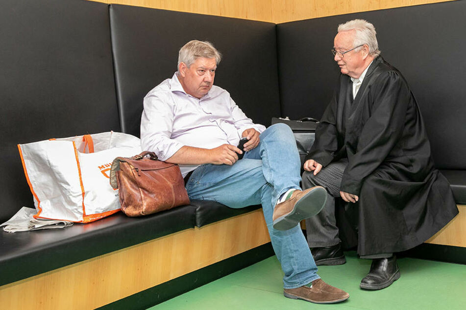 Investor Thomas Diller (li.) und sein Anwalt Rudolf Kohnke.