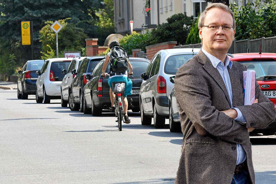 Fahrradfahrer wollen Parkplätze an der Nöthnitzer Straße abschaffen