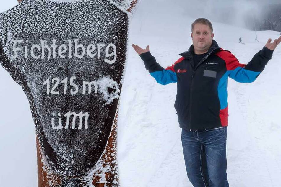 Der Schnee reicht locker aus: Fichtelberg lädt zur Schlittenfahrt