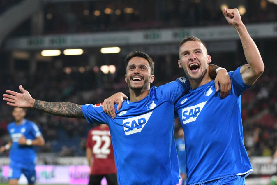 Großer Jubel: Die TSG sackt drei Punkte in Hannover ein.