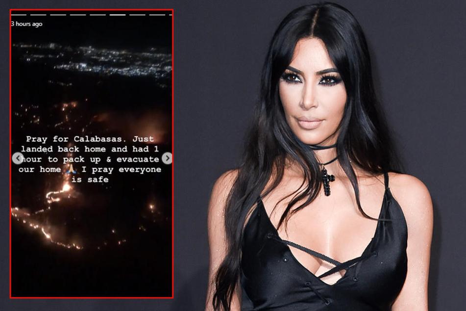 Kim Kardashian und Ehemann Kanye West mussten ihr Haus verlassen.