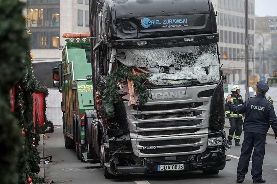 Mit diesem Laster raste der Terrorist auf den Weihnachtsmarkt an der Gedächtniskirche.