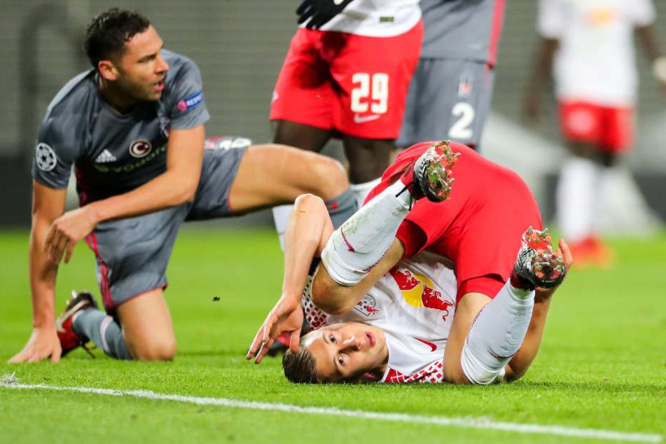 """Eine Etage tiefer bleibt RB Leipzig nun immerhin die Europa League. Dort warten laut Hasenhüttl """"attraktive, gute Gegner""""."""