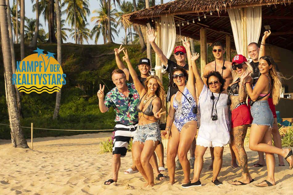 """Ein Teil des Casts für die zweite Staffel """"Kampf der Realitystars"""", darunter Loona, Claudia Obert, Narumol und Gina-Lisa Lohfink."""