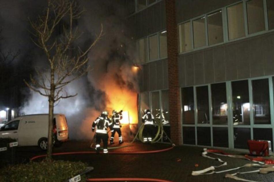 Im Landesamt für Steuern und Finanzen verbrannte auch die Post der Leipziger Bürger.