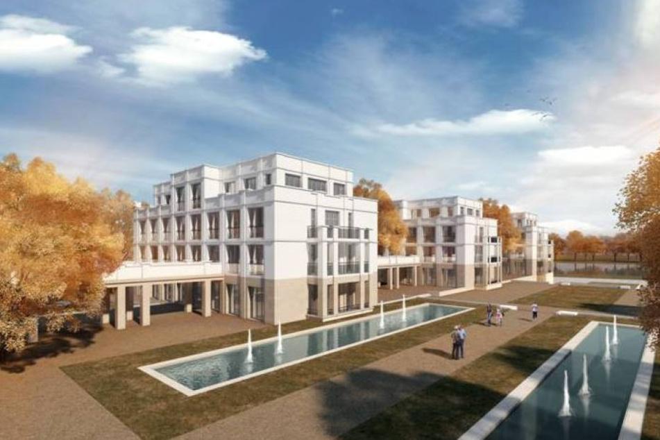 So sollte das Bauprojekt Marina Garden in der Nähe der Hafencity aussehen. Es wurde jedoch nie genehmigt.