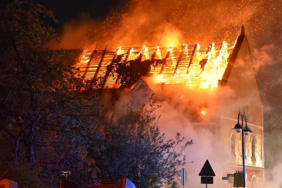 """Die Flammen zerstörten vor allem das Obergeschoss des """"Reußischen Hofes""""."""