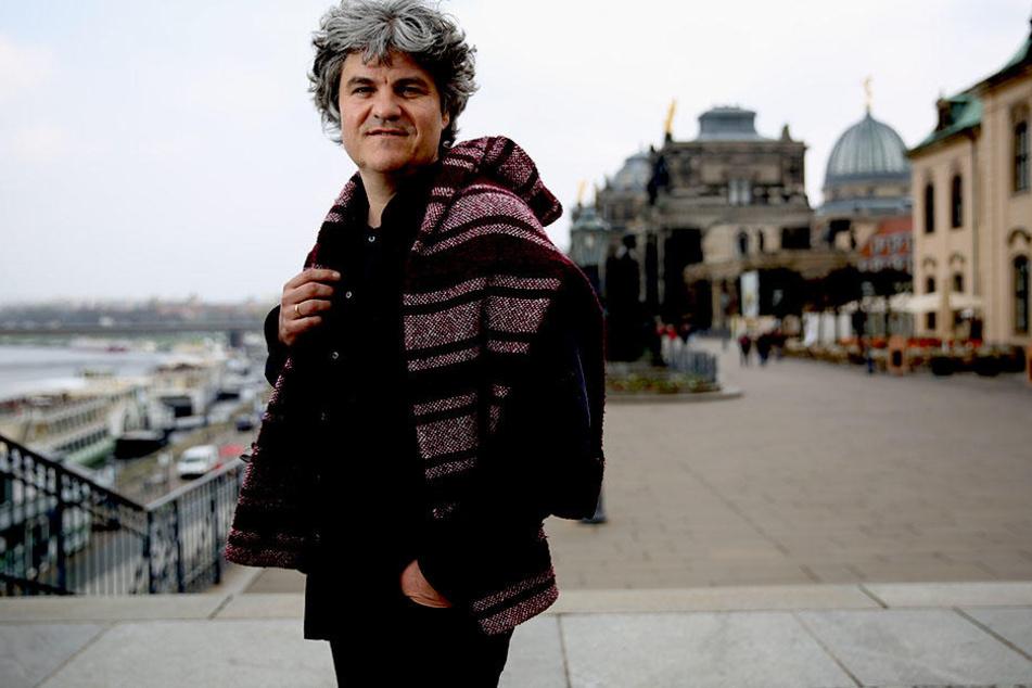 Sinfoniker-Intendant Markus Rindt am Mittwoch auf der Brühlschen Terrasse.