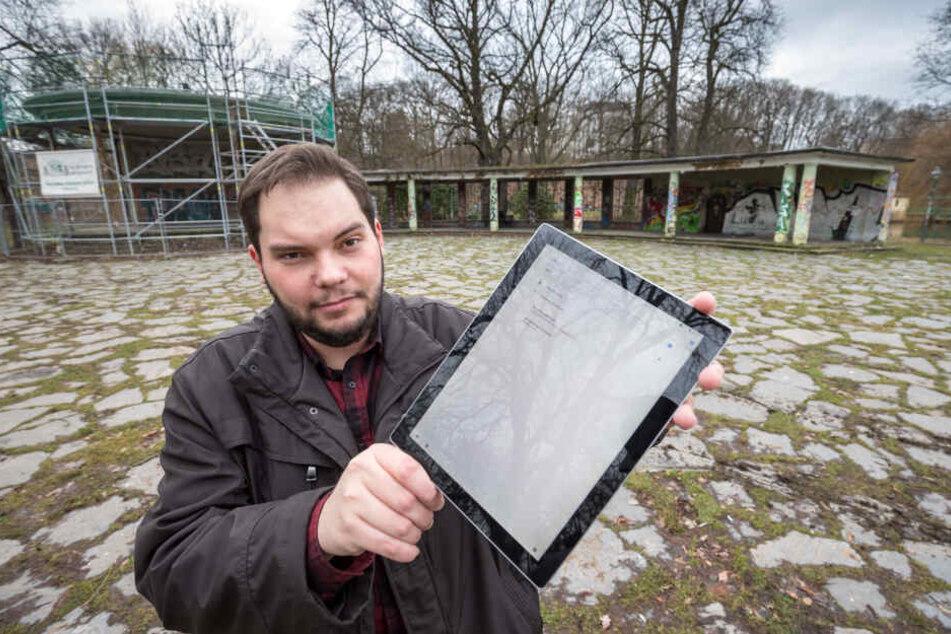 Stadtrat Toni Rotter (32, Chemnitz für alle) wünscht sich ein freies Internet für Chemnitz.