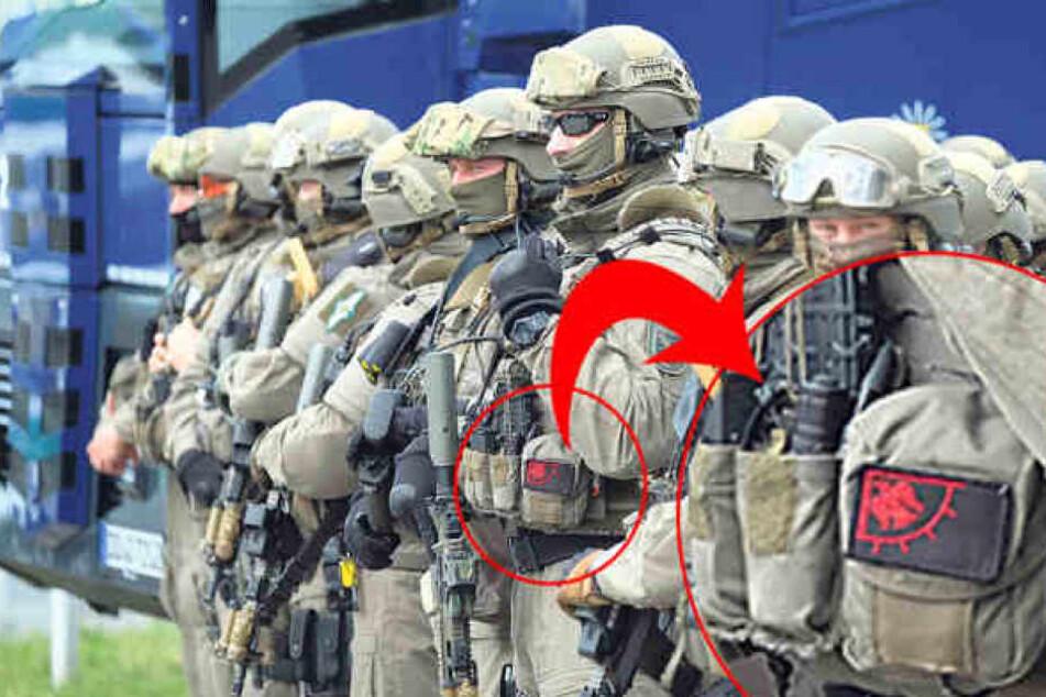Weil der Beamte diesen Aufnäher an seiner Uniform trug, verhängte das LKA eine Disziplinarstrafe.
