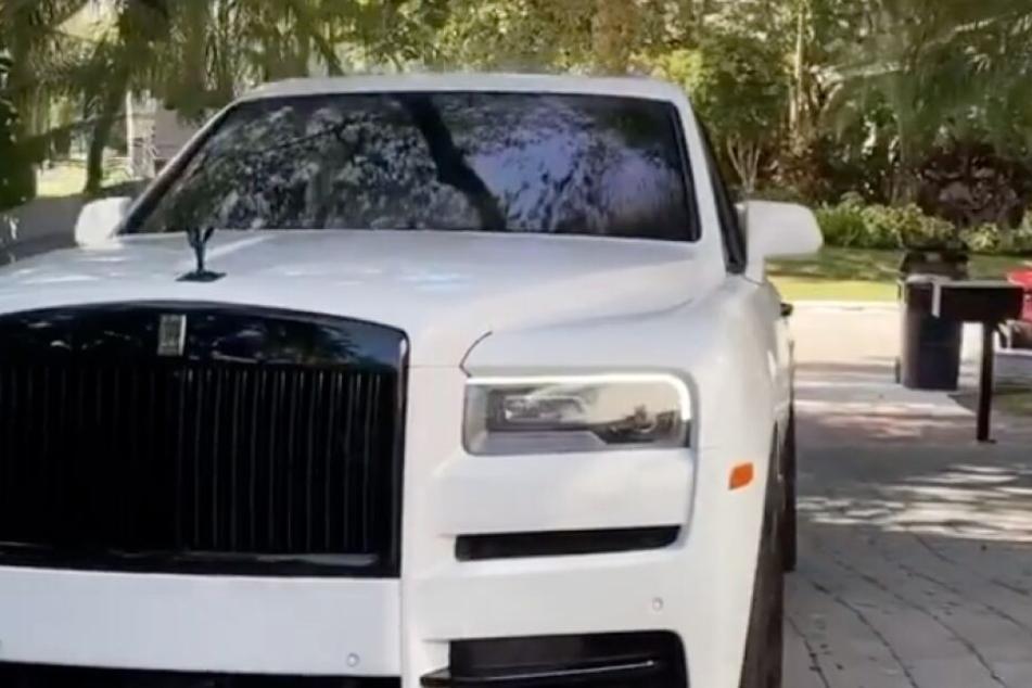 Nur geliehen: Robert Geiss testete einen Rolls Royce Cullinan.