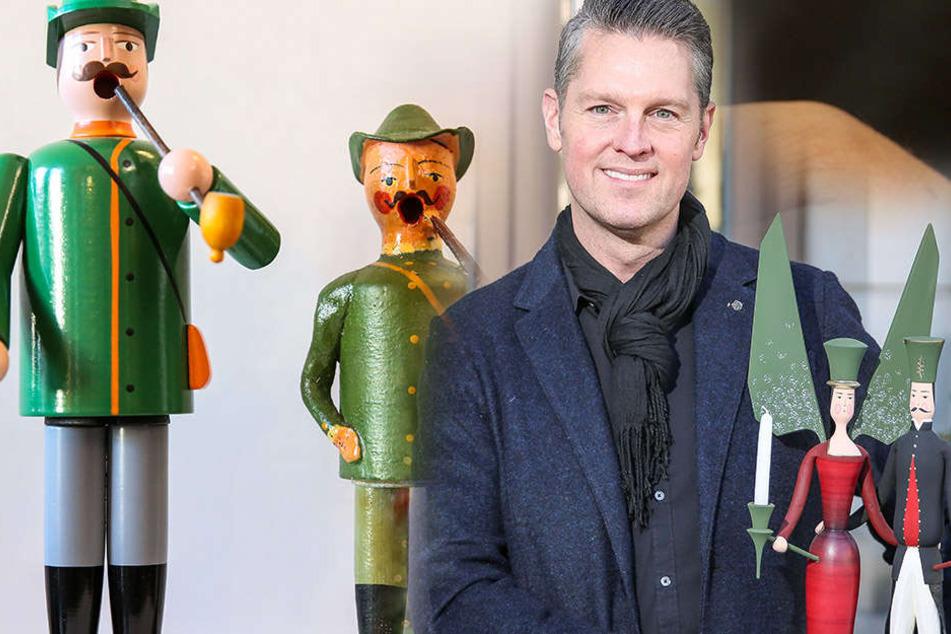 """Bei Mario Somplatzki (49) im """"Tradition & Form"""" gibt es erzgebirgische Figuren aus Teig."""