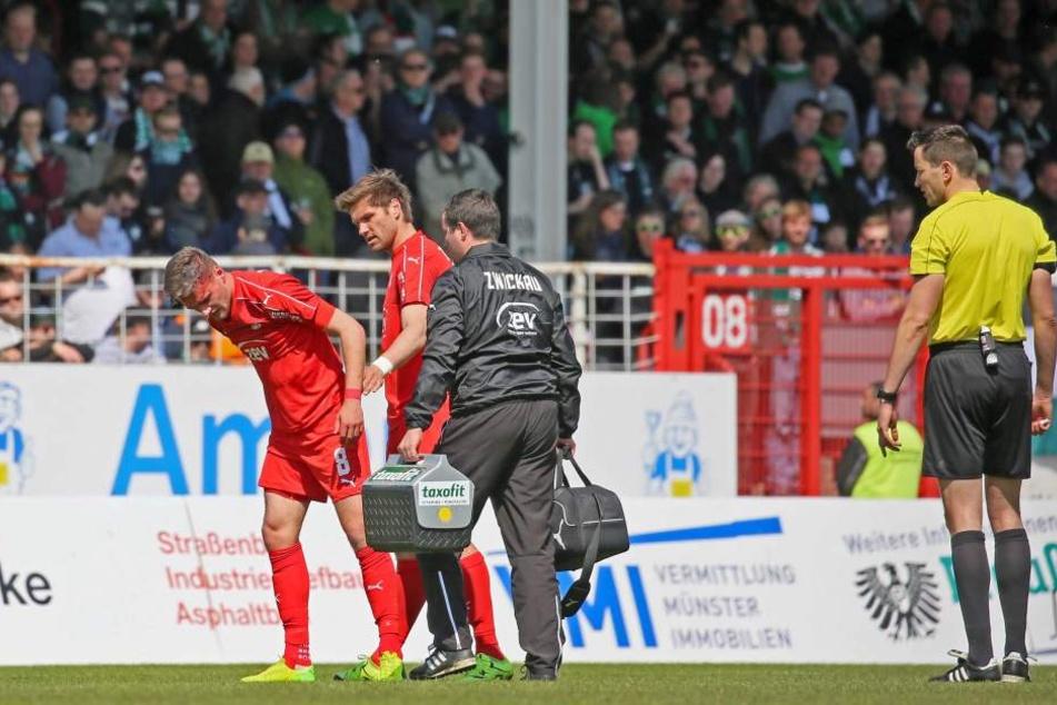 Jonas Nietfeld verletzte sich bei einem Kopfball.