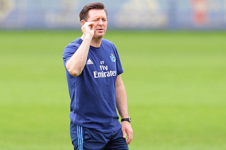 HSV-Coach Christian Titz glaubt noch an den Klassenerhalt über den Umweg Relegation.