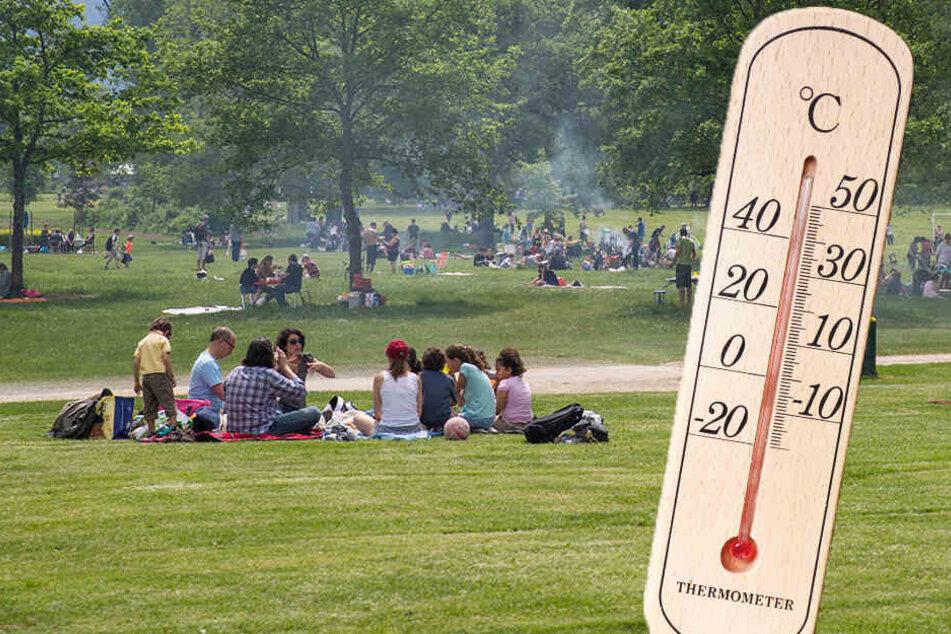 Bei den Temperaturen zog es viele Leute nach draußen.