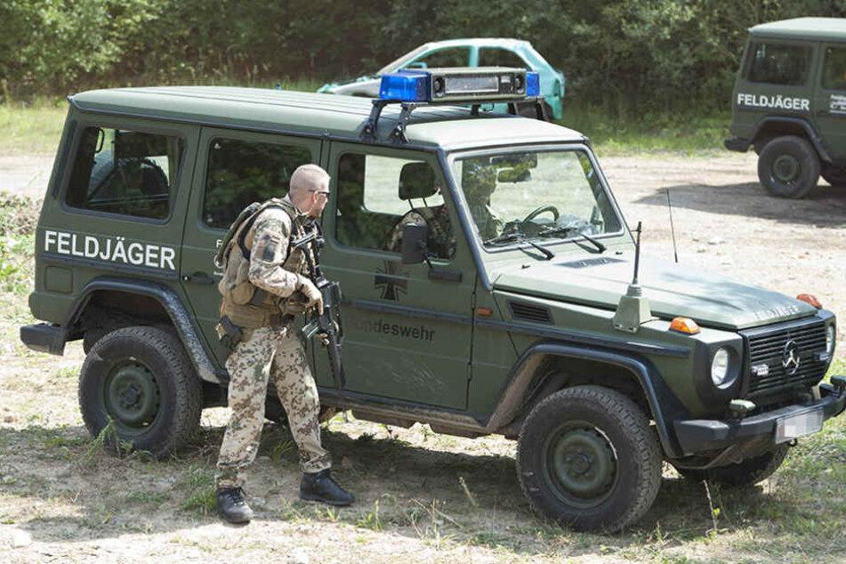 Feldjäger sind die Militärpolizei der Bundeswehr. Nun sollen sie die  sächsische Polizei verstärken.