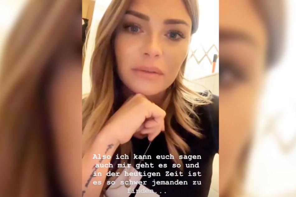 Das Bild zeigt den Screenshot einer Instagram-Story von Tascha Jasmin Beil vom Montag.
