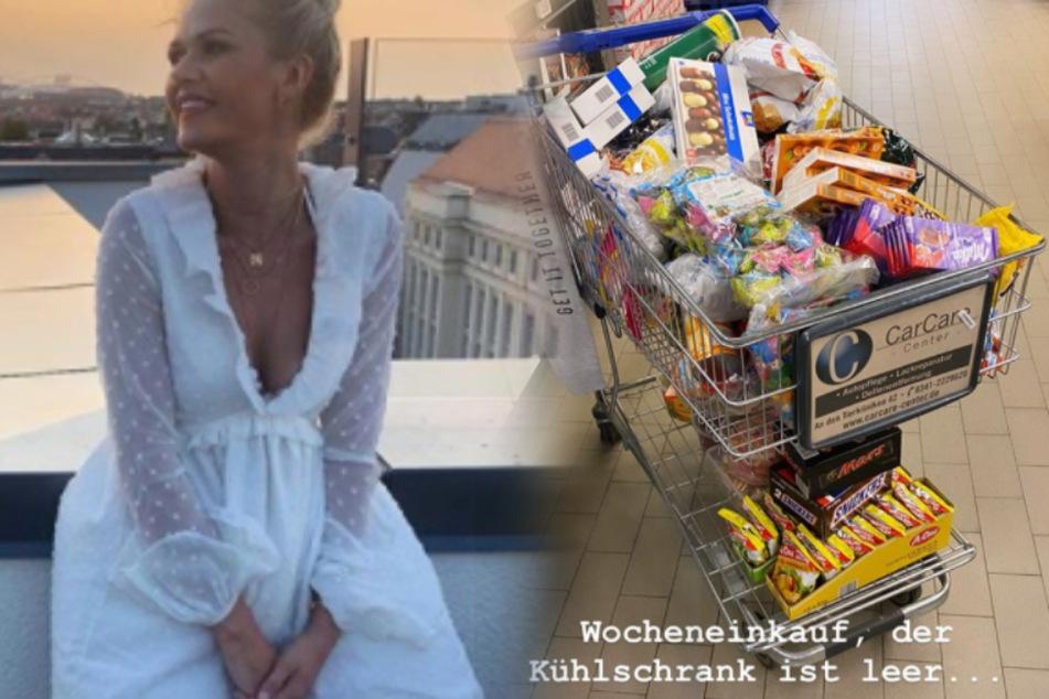 Ein Einkaufswagen voller Kalorienbomben: Was ist nur mit Sara Kulka los?