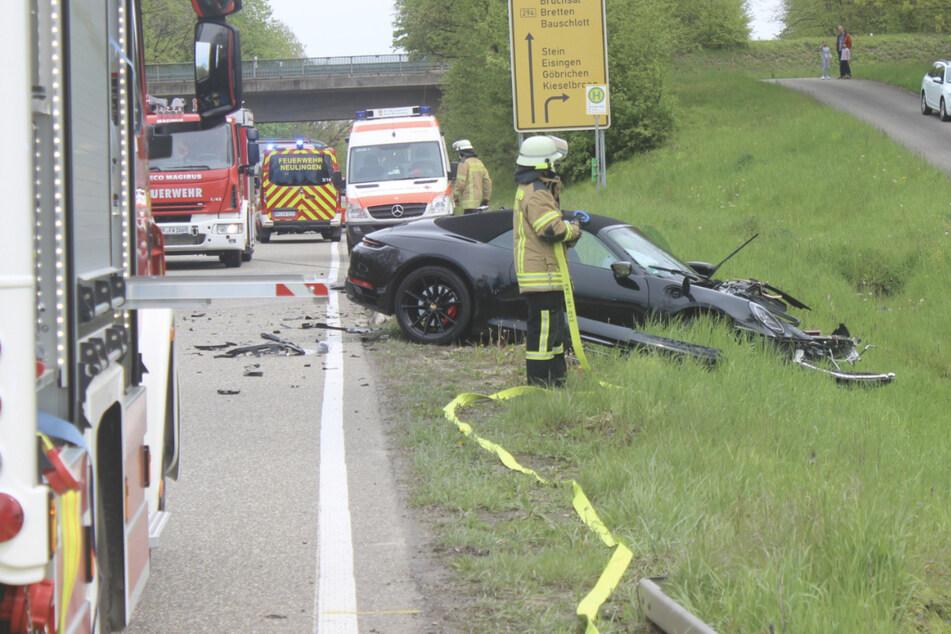 Porsche-Fahrer will verbotenerweise wenden: 180.000 Euro Schaden bei Unfall