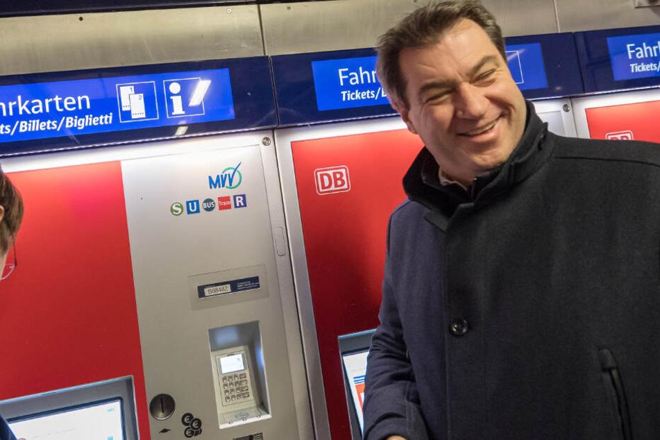 Debatte um 365-Euro-Tickets: Markus Söder spricht über ÖPNV