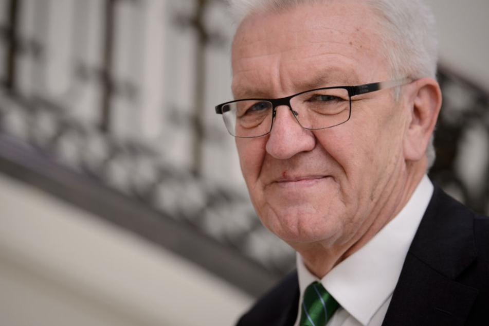Wusste tagelang nichts von der Attacke auf Polizisten: Ministerpräsident Winfried Kretschmann.