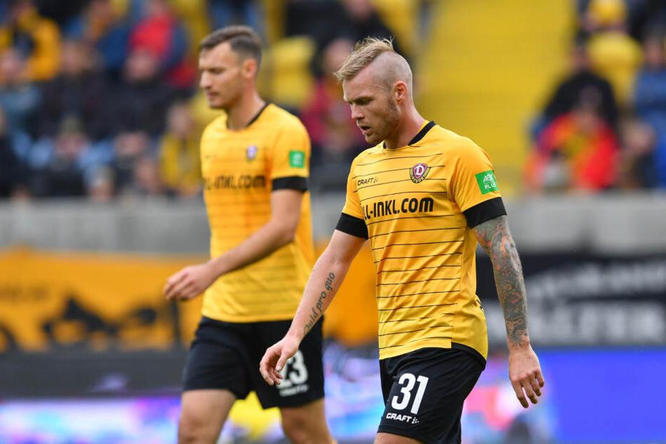 Enttäuschte Gesichter bei Dynamo: Florian Ballas (links) und Brian Hamalainen.