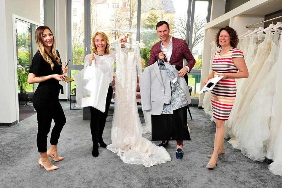 Make-up-Artist, Wedding-Planerin, Brautkleid- und Herrenausstatter: Melanie Palmer, Anja Jungen, Jens Leonhardt und Jacqueline Exel liefern alles, was man zum Heiraten braucht.