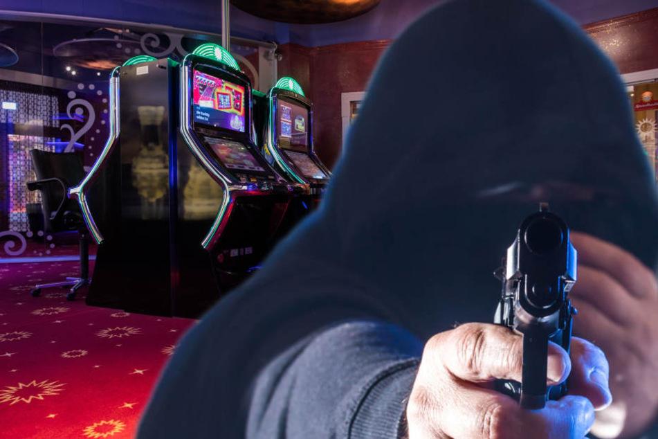Der maskierte Räuber versuchte bei einem Gast der Spielhalle weitere Beute zu machen. (Symbolbild)