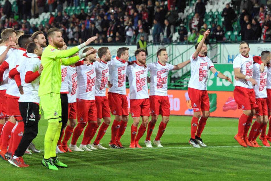 Die Mannschaft nach dem Sieg.
