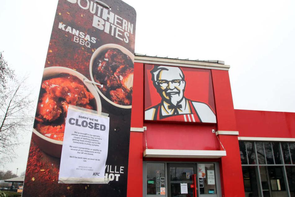In Großbritannien und Irland bleiben weiterhin einige KFC-Filialen geschlossen.
