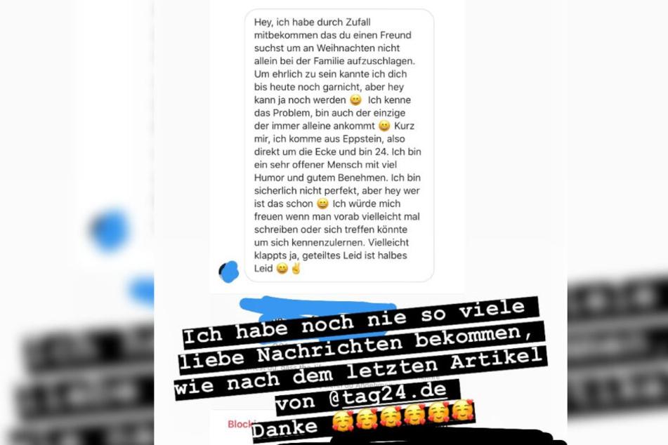Das Bild zeigt den Screenshot einer Instagram-Story von Sängerin Josimelonie