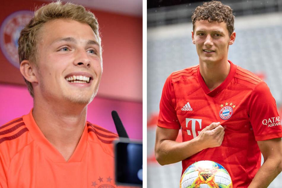 Jann-Fiete Arp (l.) und Benjamin Pavard (r.) sind ebenfalls neu im Kader des FC Bayern München.