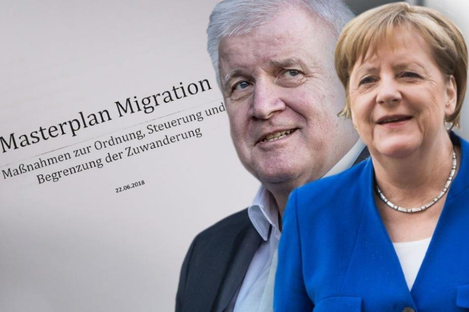 """Nach dem Asylstreit mit Kanzlerin Angela Merkel (63, CDU) stellt Bundesinnenminister Horst Seehofer (69, CSU) am 10. Juli seinen """"Masterplan Migration"""" vor."""