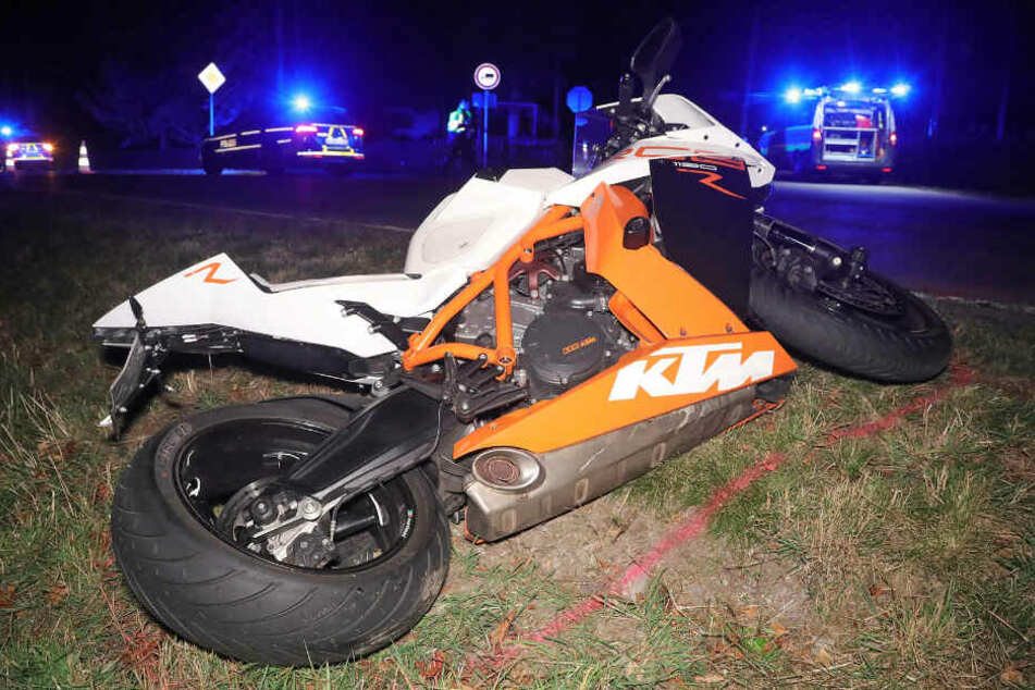 Schwer verletzt wurde der Kradfahrer bei dem Crash.