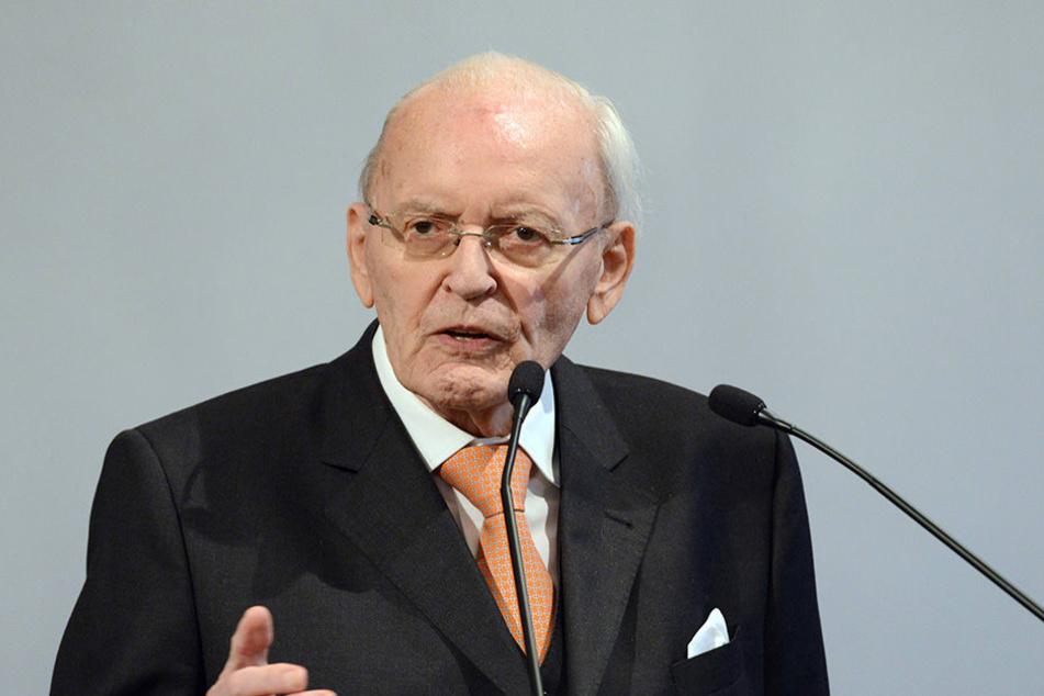 Der ehemalige Bundespräsident Dr. Roman Herzog bei einer seiner Reden im Bundestag.