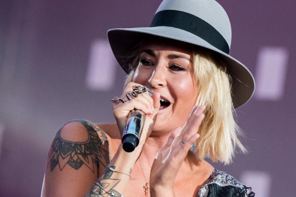 Sarah Connor singt im Mai beim Public Viewing zum Eurovison Song Contest in Hamburg.
