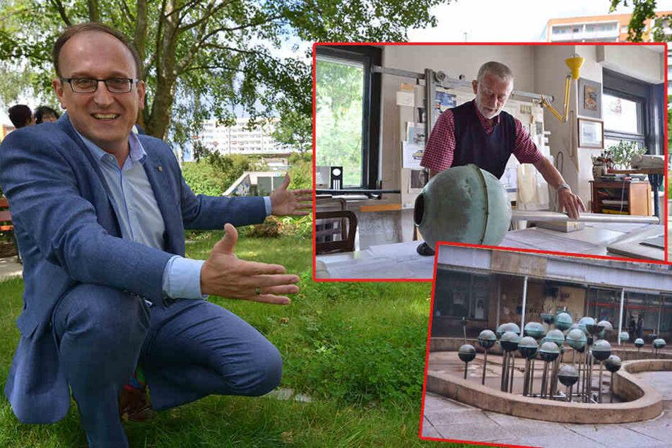Neuer Hingucker im Heckertgebiet: DDR-Kultdesigner lässt Kugelbrunnen aufleben