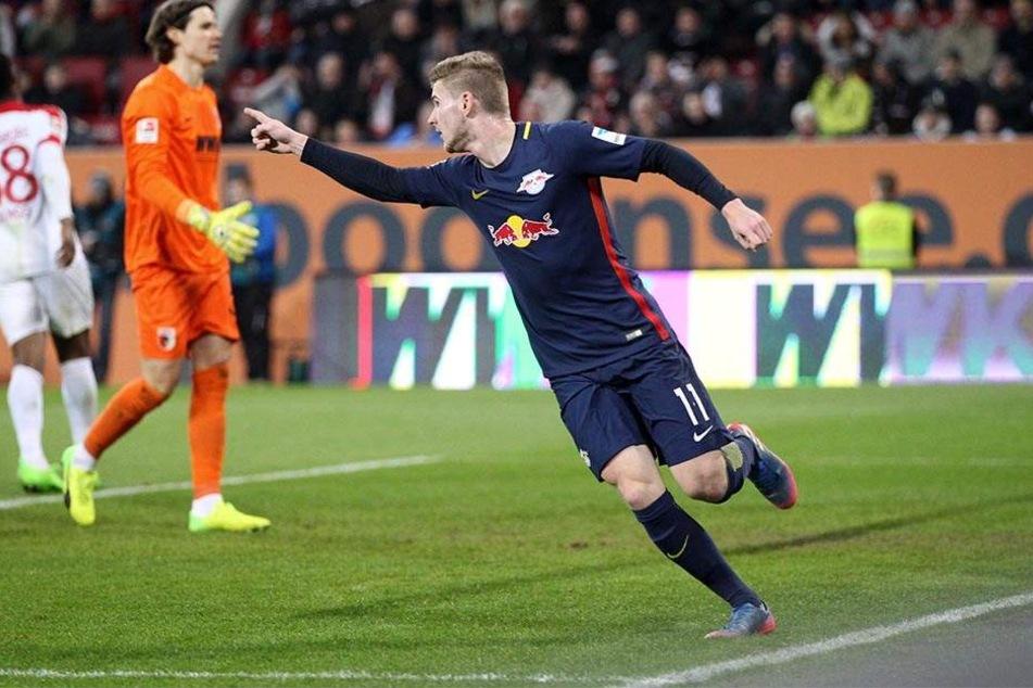 Timo Werner bejubelt seinen Treffer zum zwischenzeitlichen 1:1-Ausgleich. Zum Sieg reichte es am Ende nicht.