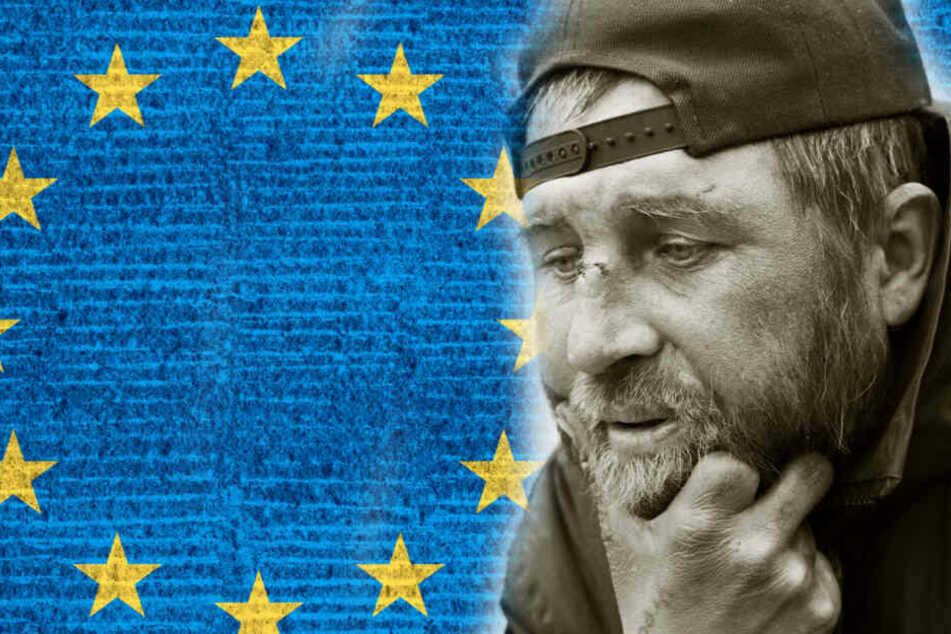 Auch Obdachlose haben das Recht an der Europawahl teilzunehmen! (Symbolbild / Bildcollage)