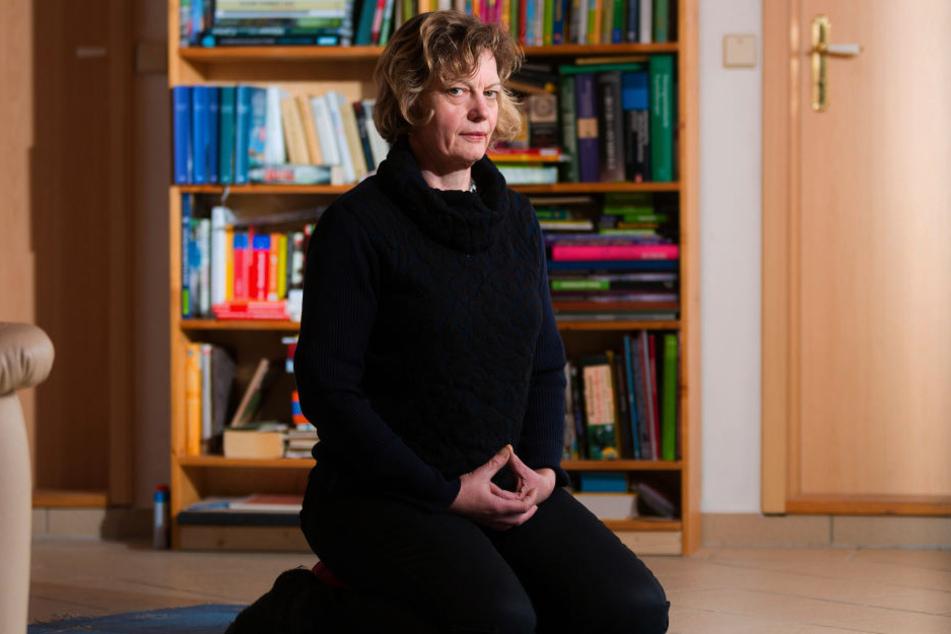 Einfach mal sitzenbleiben: Bei der Zen-Meditation lässt Kerstin Alexander  ihre Gedanken zur Ruhe kommen.