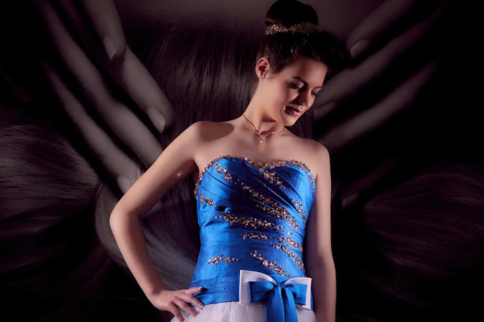 An Model Elisabeth wurde das Styling der Debütantinnen erprobt.