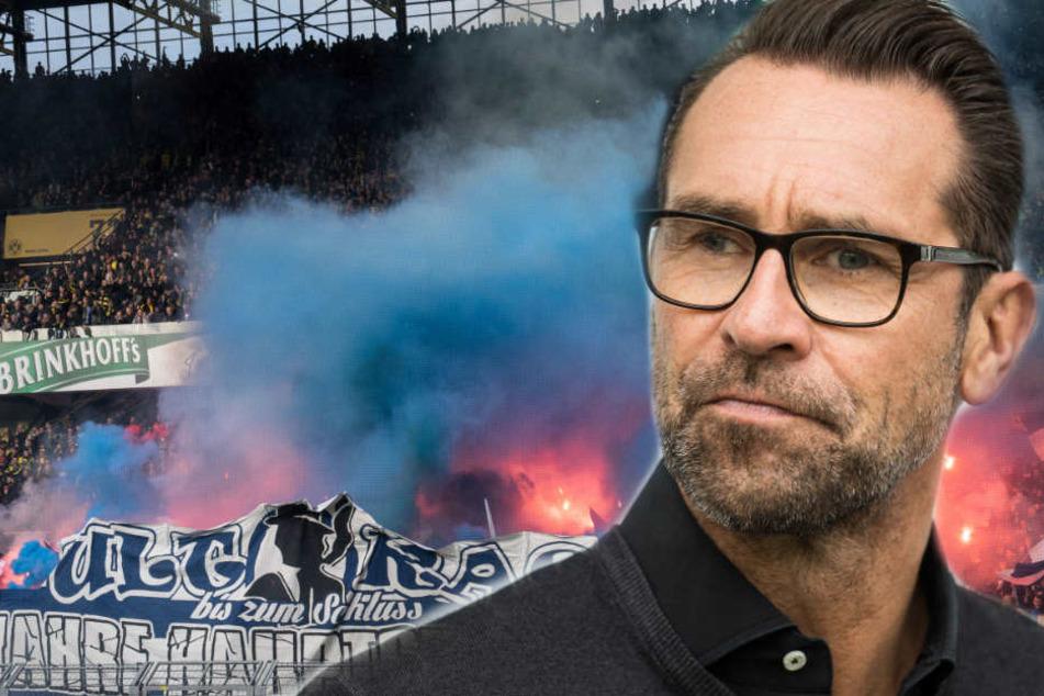Michael Preetz (51) kann die Kritik der Fans am Polizei-Einsatz bei der Randale in Dortmund nicht nachvollziehen.
