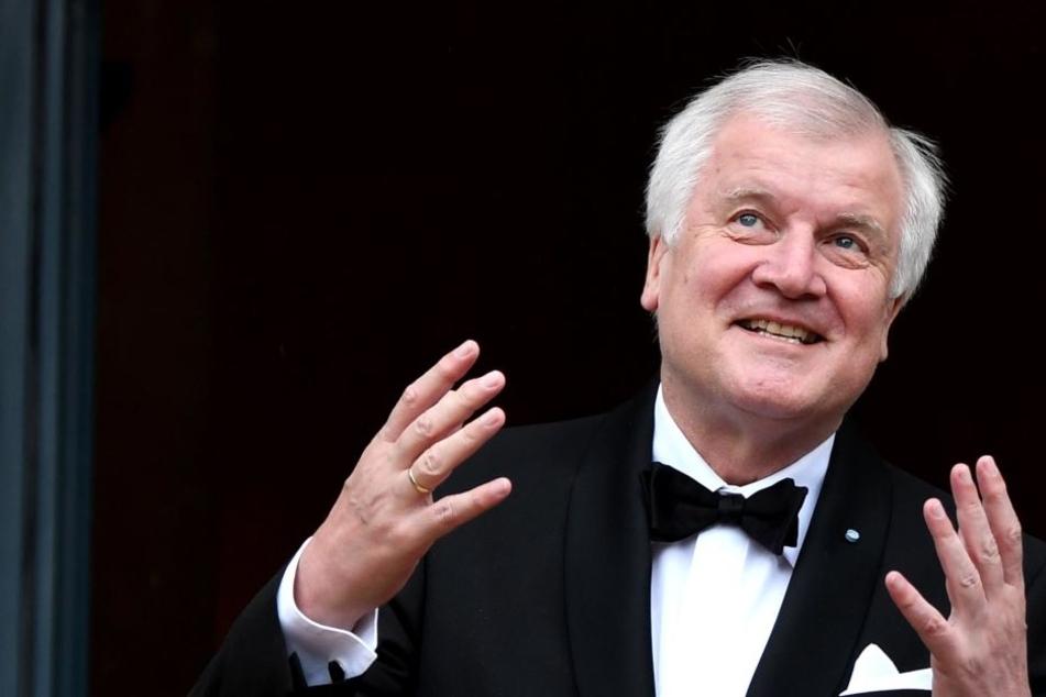 Gerne auch mal mit großer Geste vorm Publikum: Horst Seehofer.